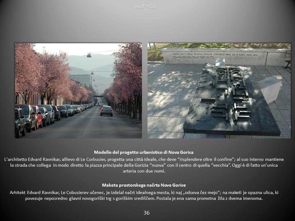 Modello del progetto urbanistico di Nova Gorica- Maketa prostorskega načrta Nove Gorice