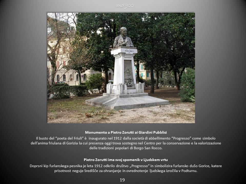 Monumento a Pietro Zorutti ai Giardini Pubblici - Pietro Zorutti ima svoj spomenik v Ljudskem vrtu